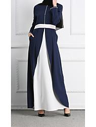 cheap -Adults' Women's Ethnic Arabian Dress Abaya Kaftan Dress For Halloween Daily Wear Festival Polyster Patchwork Long Length Dress