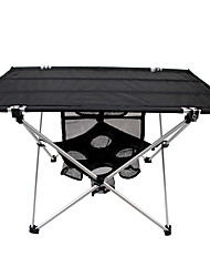 cheap -Camping Table with Side Pocket Portable Lightweight Ultra Light (UL) Foldable Aluminium Alloy 7005 Oxford for 3 - 4 person Fishing Hiking Beach Camping Spring Summer Black