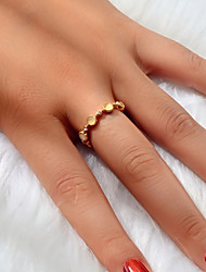 cheap -Women's Ring Open Ring 1pc Gold Acrylic Alloy Simple Classic European Engagement Gift Jewelry Geometrical Love Precious Cute Cool Lovely