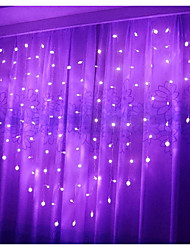 cheap -Heart Shape Curtain Lights 2.5m 138 LED Twinkle String Lights with Battery Box Decorative Lights for Christmas Wedding Valentine Wall Backdrop