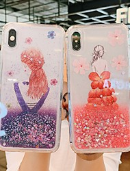 cheap -Apple Applicable to 11Pro Max Mobile Phone Shell Liquid Quicksand 11Pro Protective Cover Luxury Glitter 11 Soft Shell Net Red Goddess XS Max Creative Girl 6/7/8P Anti-fall