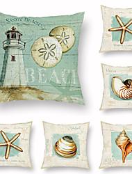 cheap -Undersea World Conch Starfish Pillow Case Home Sofa Office Car Pillow Home Decor Pillow Case