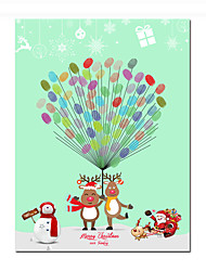 cheap -Christmas / Event / Party Party Accessories Canvas Print Patterned Canvas Christmas / Garden Theme / Classic Theme