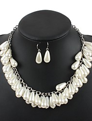 cheap -Women's Pearl Bridal Jewelry Sets Layered Love Statement Colorful Imitation Pearl Earrings Jewelry White For Wedding Party 1 set
