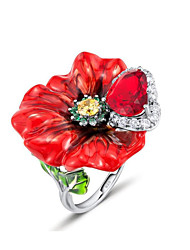 cheap -Women's Ring 1pc Silver Alloy Daily Jewelry
