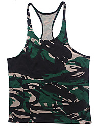 cheap -Men's Racerback Running Tank Top Camo Cotton Running Fitness Gym Workout Vest / Gilet Sleeveless Activewear Lightweight Breathable Quick Dry Sweat-wicking High Elasticity