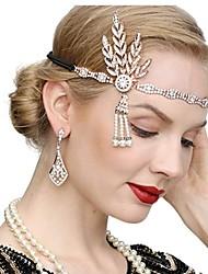 cheap -The Great Gatsby Vintage 1920s The Great Gatsby Gloves Flapper Headband Women's Costume Necklace Earrings Black / Golden / White Vintage Cosplay Festival / 1 Pair of Earrings / Headwear / Headwear
