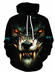 cheap -Men's Hoodie Jacket 3D Hooded Basic Hoodies Sweatshirts  Slim Black
