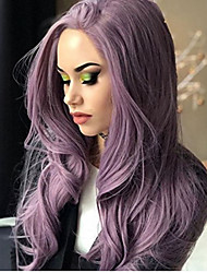 cheap -Hair Care Synthetic Lace Front Wig Synthetic Extentions Wavy Body Wave Middle Part Lace Front Wig Long Lavender Synthetic Hair 18-24 inch Women's Party Synthetic Easy dressing Purple