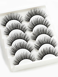 cheap -5 Pairs 3D Mink Hair False Eyelashes Wispy Full Volume Natural Lashes Extension Mixed Styles Feathery Flared Variety Pack Lashes