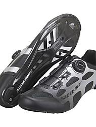 Недорогие -SIDEBIKE Взрослые Обувь для велоспорта Дышащий Шоссейные велосипеды Велосипедный спорт / Велоспорт Велосипеды для активного отдыха Черный Муж. Жен. Обувь для велоспорта