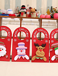 cheap -4pcs Cartoon Accessories Hanging Door Christmas Supplies With English Door Hanging
