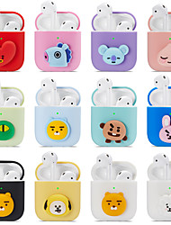 cheap -Case For AirPods Shockproof / Dustproof / Pattern Headphone Case Soft