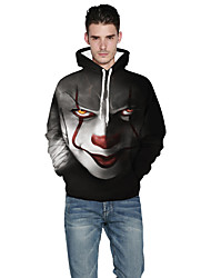 cheap -Burlesque Clown Pennywise Hoodie Men's Movie Cosplay Black / Golden / Red Hoodie Polyster
