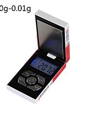 Недорогие -Gold cigarette case scale Портативные Антифрикционное Цифровые ювелирные шкалы Цифровая шкала кофе Для офиса и преподавания Семейная жизнь Кухня ежедневно