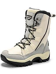 cheap -Women's Boots Snow Boots Flat Heel Round Toe PU Mid-Calf Boots Fall & Winter Black / Beige