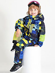cheap -Boys' Girls' Ski Suit Skiing Camping / Hiking Winter Sports Waterproof Warm Wearable Chinlon Tracksuit Ski Wear