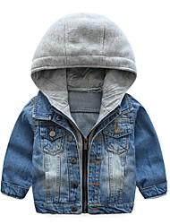 abordables -Enfants Garçon Chic de Rue Bloc de Couleur Veste & Manteau Bleu