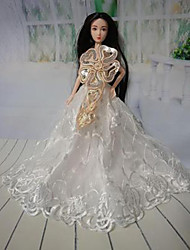 cheap -Doll Dress Party / Evening For Barbiedoll Floral Botanical Polyester Dress For Girl's Doll Toy