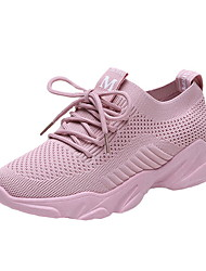 cheap -Women's Athletic Shoes Flat Heel Round Toe Canvas Running Shoes Fall & Winter Black / White / Pink