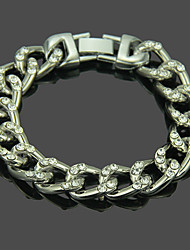 cheap -Men's Bracelet Hollow Weave Punk Trendy Aluminum Bracelet Jewelry Gold / Silver For Daily