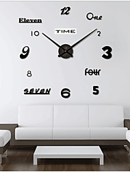 "cheap -Wall Clock,Fashion DIY Plastic & Metal Acrylic Stainless steel Round Indoor / Outdoor 39.3"" x 39.3"" (100cm x 100cm)"