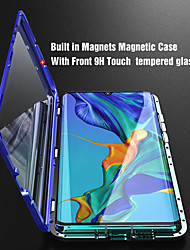 cheap -Double sided Glass Magnetic Case for Huawei P30 Clear 360 Protection Mobile Phone Case Metal Magnet Adsorption Protective Case for Huawei P30Lite P30 Pro P20 P20 Lite P20 Pro