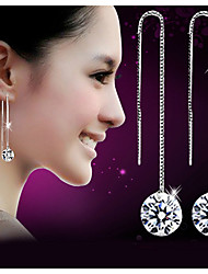 cheap -2020 new Plata jewelry cz Crystal long tassel Earrings for Women gift 925 sterling silver Stud Earrings fashion jewelry