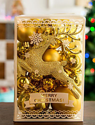 cheap -30 PCS Christmas Tree Balls Home Party Pendant Decoration DIY Hanging Balls Colorful Elk Pendant Gold Balls Christmas Decoration