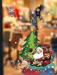 cheap -Window Film & Stickers Decoration Patterned / Christmas Geometric / Character PVC(PolyVinyl Chloride) Window Sticker / Door Sticker / Lovely