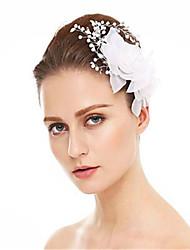 cheap -Rhinestone / Fabrics Hair Combs with Rhinestone / Faux Pearl / Flower 1 Piece Wedding Headpiece