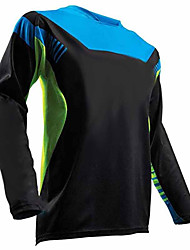 cheap -21Grams Men's Long Sleeve Cycling Jersey Dirt Bike Jersey Camouflage Black / Blue Bike Jersey Top Mountain Bike MTB Road Bike Cycling UV Resistant Breathable Quick Dry Sports Winter 100% Polyester