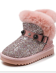 cheap -Girls' Snow Boots Suede Boots Little Kids(4-7ys) Black / Pink Winter / Booties / Ankle Boots