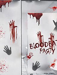 Недорогие -хэллоуин кровопролитная вечеринка наклейки на стену из ПВХ