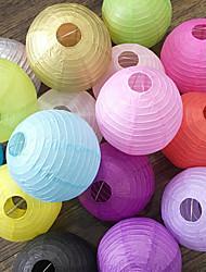 cheap -10pcs Round Chinese Paper Lanterns Birthday Wedding Decor Gift Craft DIY Lampion Hanging Ball Party Supplies