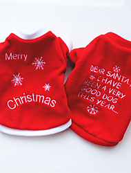 cheap -Dog Sweater Sweatshirt Quotes & Sayings Cosplay Christmas Winter Dog Clothes Puppy Clothes Dog Outfits White Red Costume for Girl and Boy Dog Polar Fleece XS S M L