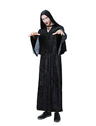 Недорогие -Волшебники Товары для Хэллоуина Маскарад Взрослые Муж. Хэллоуин Halloween Хэллоуин Маскарад Фестиваль / праздник Терилен Эластан Черный Муж. Карнавальные костюмы Черепа / Толстовка