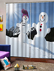 cheap -Christmas Privacy Two Panels Curtain