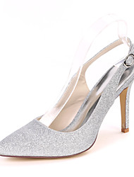 cheap -Women's Wedding Shoes Stiletto Heel Pointed Toe Synthetics Minimalism Fall / Spring & Summer White / Champagne / Light Purple / Party & Evening