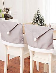 Недорогие -6 шт. Рождественские украшения дед мороз нетканый стул задняя крышка для дома праздник партии