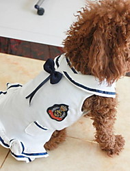 cheap -Dogs Cats Pets Dress Dog Clothes White Blue Costume Polyster Sailor Dresses&Skirts S M L XL XXL
