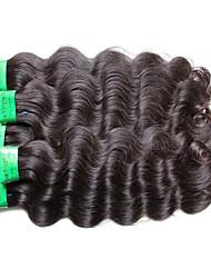"cheap -5 Bundles Indian Hair Body Wave Virgin Human Hair Unprocessed Human Hair Natural Color Hair Weaves / Hair Bulk 10""~30"" Natural Human Hair Weaves Natural Best Quality For Black Women Human Hair"