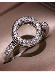 cheap -Women's Ring Cubic Zirconia 1pc Silver Brass Geometric Fashion Daily Holiday Jewelry Geometrical Star Cool