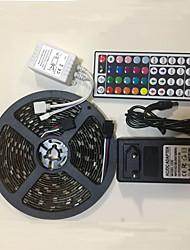 cheap -5m Light Sets 300 LEDs 5050 SMD 10mm 1 12V 6A Adapter / 1 44Keys Remote Controller Multi Color Party / Decorative 100-240 V 1 set