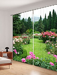 cheap -Park Digital Printing 3D Curtain Shading Curtain High Precision Black Silk Fabric High Quality Curtain