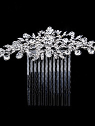 cheap -Alloy Hair Combs / Hair Accessory with Crystal / Rhinestone / Flower 1 Piece Wedding Headpiece