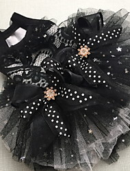 cheap -Dog Cat Pets Dress Dog Clothes Black Purple Costume Polyster Solid Colored Stars Wedding High Quality XS S M L XL