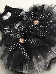 Недорогие -Собаки Коты Животные Платья Одежда для собак Черный Лиловый Костюм Полиэстер Однотонный Звезды Свадьба Высокое качество XS S M L XL