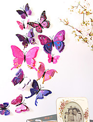 cheap -Animals Double Layer Wall Stickers 3D Wall Stickers Decorative Wall Stickers Light Switch Stickers Fridge Stickers Wedding Stickers PVC Home - Purple