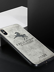 cheap -Case For Apple iPhone XS / iPhone XR / iPhone XS Max Shockproof / Ultra-thin / Pattern Back Cover Word / Phrase / Solid Colored / Animal PU Leather / TPU